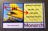 MONARCH souvenir ID-style card - Personalised